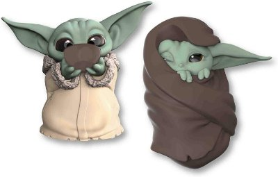 Star Wars The Mandalorian Baby Yoda Sipping Soup Blanket-Wrapped Toy