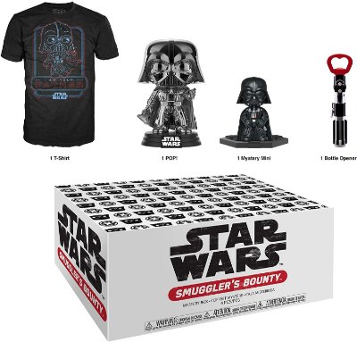 Funko Pop Star Wars Smugglers Bounty Darth Vader Collectors Box - S
