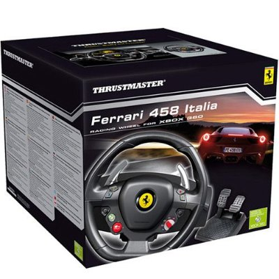 Volante c/ Pedais Thrustmaster Ferrari 458 Italia Wheel Xbox360 / PC