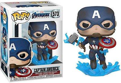 Funko Pop Marvel 573 Captain America w/ Broken Shield & Mjolnir