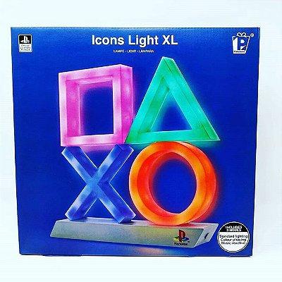 Luminária Playstation Icons Light XL Extra Grande - Paladone