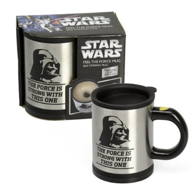 Caneca Star Wars Darth Vader Self Stirring and Spinning Mug - Mexa sua bebida com o poder da Força
