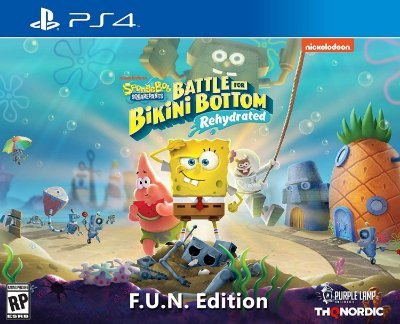 Spongebob Squarepants Battle for Bikini Bottom Rehydrated F.U.N. Edit. - PS4