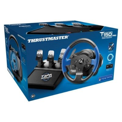 Kit Volante C/ Pedais Thrustmaster T150 RS Pro Ps4 PS3 PC