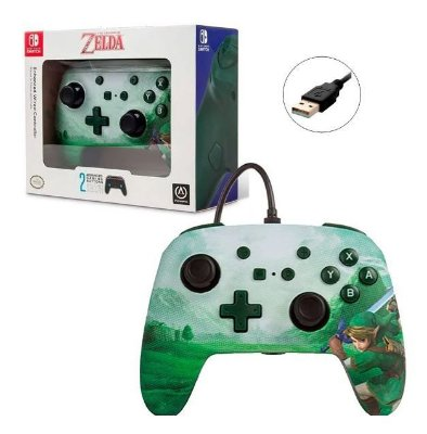 Controle PowerA C/ fio Enhanced Link Zelda - Switch