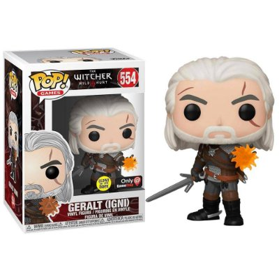 Funko Pop The Witcher 3 Wild Hunt 554 Geralt Glows In The Dark