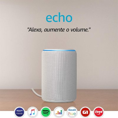 Amazon Echo 3ª Geração Smart Speaker c/ Alexa White - Branco