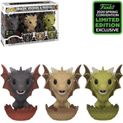 Funko Pop Game of Thrones Drogon, Viserion & Rhaegal Exclusive Limited