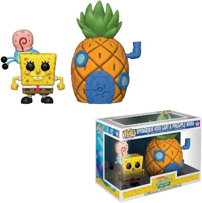 Funko Pop Bob Esponja 02 Spongebob With Gary Pineapple House