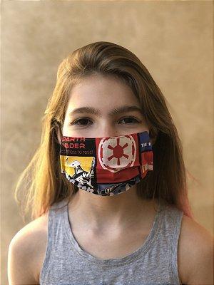 Máscara Dupla Proteção Lavável Uso dos 2 Lados Star Wars 01