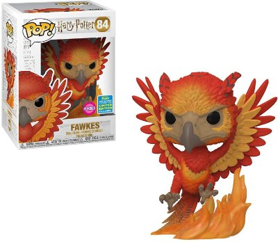 Funko Pop Harry Potter 84 Fawkes Flocked Limited