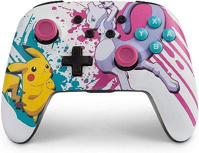 Controle S/ fio PowerA Enhanced Wireless Pokemon Pikachu - Switch