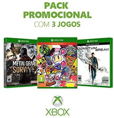 Metal Gear Survive + Super Bomberman + Quantum Break - Xbox One