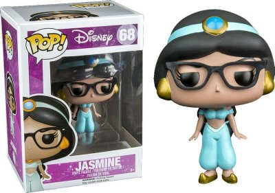 Funko Pop Disney 68 Jasmine Nerd W/ Glasses Exclusive