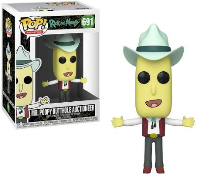 Funko Pop Rick And Morty 691 Mr Poopy Butthole Auctioneer