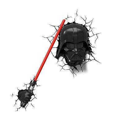 Conjunto 2 Luminárias 3D Light FX Darth Vader c/ Lightsaber