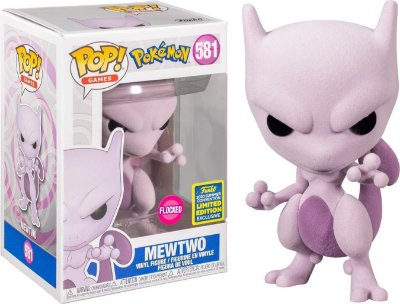 Funko Pop Pokemon 581 Mewtwo Flocked Sdcc 2020