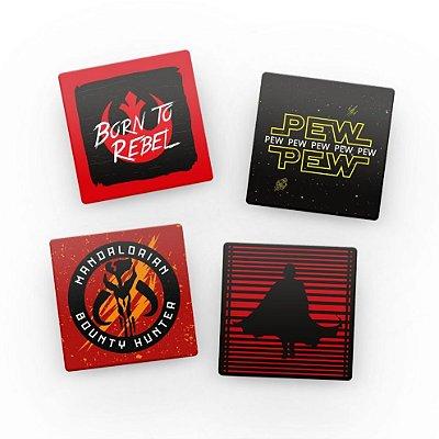 Porta Copos de Acrílico Rebel Star Wars c/ Suporte