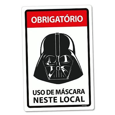 Placa Decorativa 24x16 Use Máscara Darth Vader Star Wars