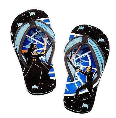 Chinelo Disney Store Star Wars Force Feet Flip Flops