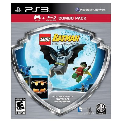 Lego Batman Silver Shield Combo Pack c/ Filme Bluray - Ps3