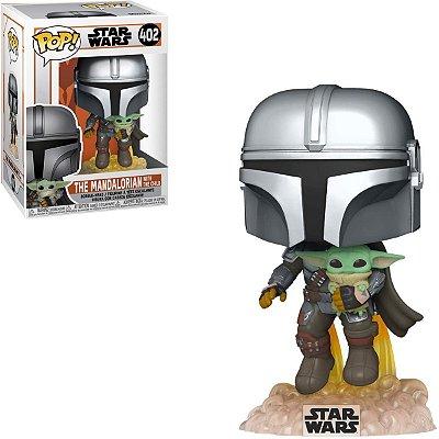 Funko Pop Star Wars 402 Mandalorian Flying w/ the Child Baby Yoda