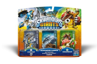 Skylanders Giants Chop Chop, Dragonfire Cannon e Shroomboom