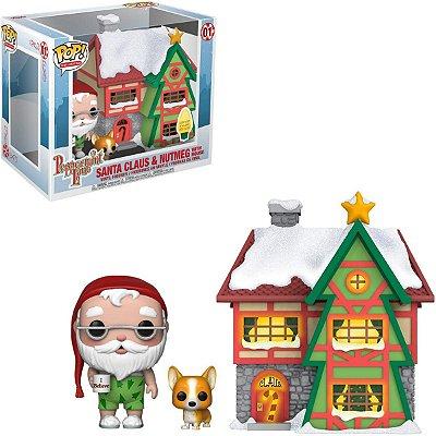 Funko Pop Santa Claus e Nutmeg w/ House Papai Noel