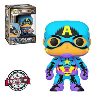 Funko Pop Marvel 648 Cap. America Black Light