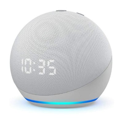 Echo Dot 4ª Gen Smart Speaker com Relógio e Alexa - Branco