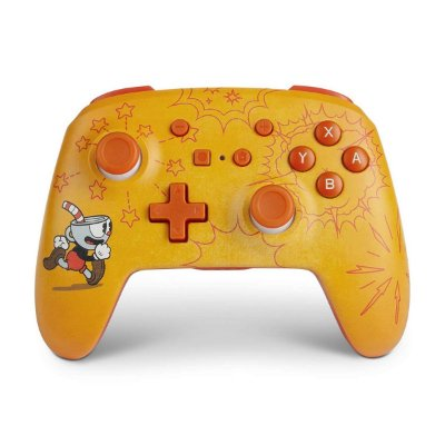 Controle PowerA Enhanced Wireless Cuphead - Switch