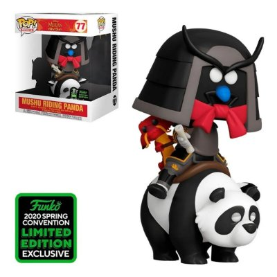 Funko Pop Disney Mulan 77 Mushu Riding Panda ECCC Limited