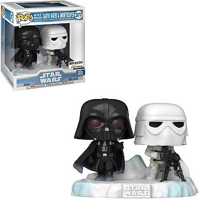 Funko Pop Star Wars 377 Darth Vader e Snowtrooper Battle at Echo Base