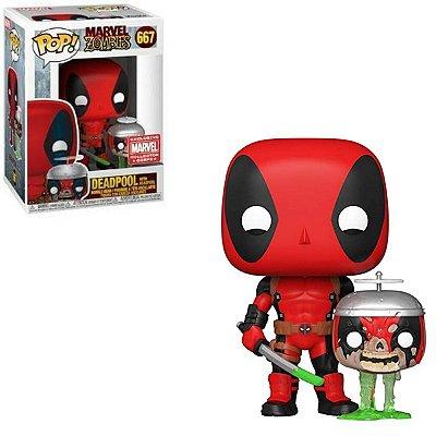 Funko Pop Marvel Zombies 667 Deadpool w/ Headpool