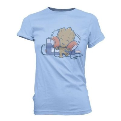Camiseta Funko Pop Guardiões da Galaxia Groot Tape Deck - P