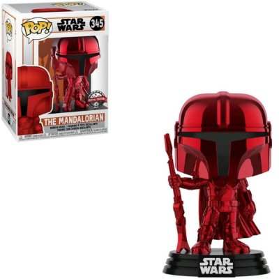 Funko Pop Star Wars 345 The Mandalorian Chrome Red Special