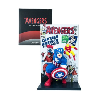 The Avengers 3D Comic Captain America Figure Loot Crate