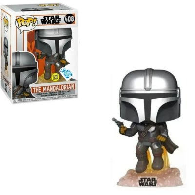 Funko Pop Star Wars 408 The Mandalorian Flying Glows in the Dark