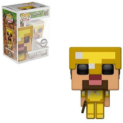 Funko Pop Minecraft 321 Steve In Gold Armor