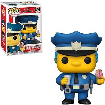 Funko Pop The Simpsons 899 Chief Wiggum Policial c/ Donut