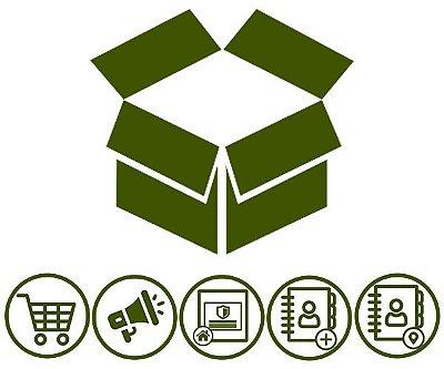 Combo 3 | Loja Virtual + Vitrine de Promoções + Destaque na Home + Catálogo de Atividades + Catálogo de Endereços