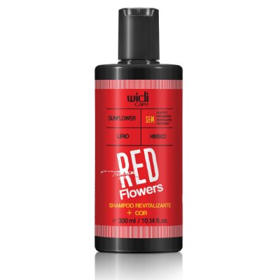 SHAMPOO REVITALIZANTE + COR RED FLOWERS  • 300ml •