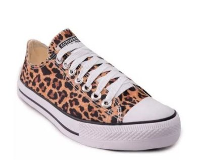 TENIS CONVERSE ALL STAR - ONÇINHA ANIMAL PRINT