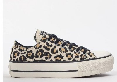 TÊNIS CONVERSE ALL STAR ANIMAL PRINT PLATFORM - BEGE