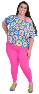 Cropped Plus Size Donut Panic