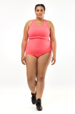 Hot Pant Plus Size - Hotch Keller - Emana Plus Laranja