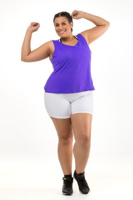 Shorts Plus Size Branco Emana