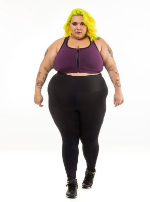 Top Plus Size Phelps Roxo Emana Plus