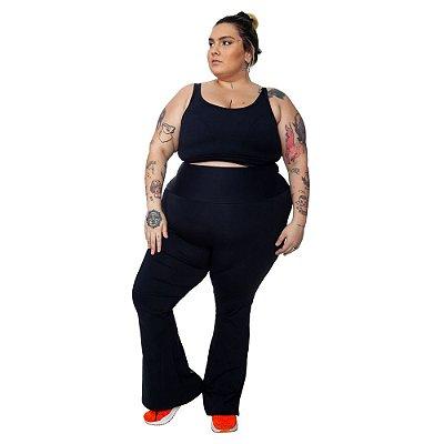 Bailarina Plus Size Joana Dark Emana Plus Preto