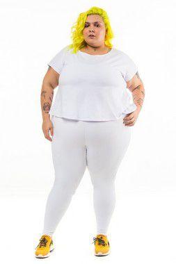 Blusa Plus Size Trançada Branca